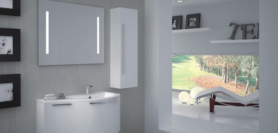 Klassisch weiße Waschtische und Badmöbel