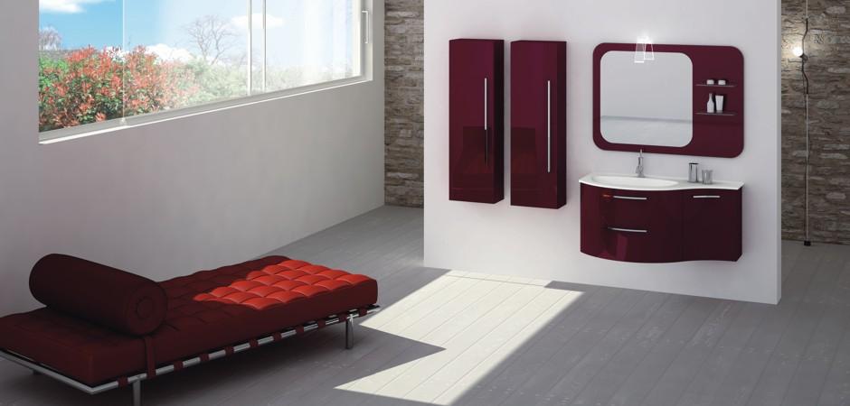 Badmöbel in einer RAL-Farbe