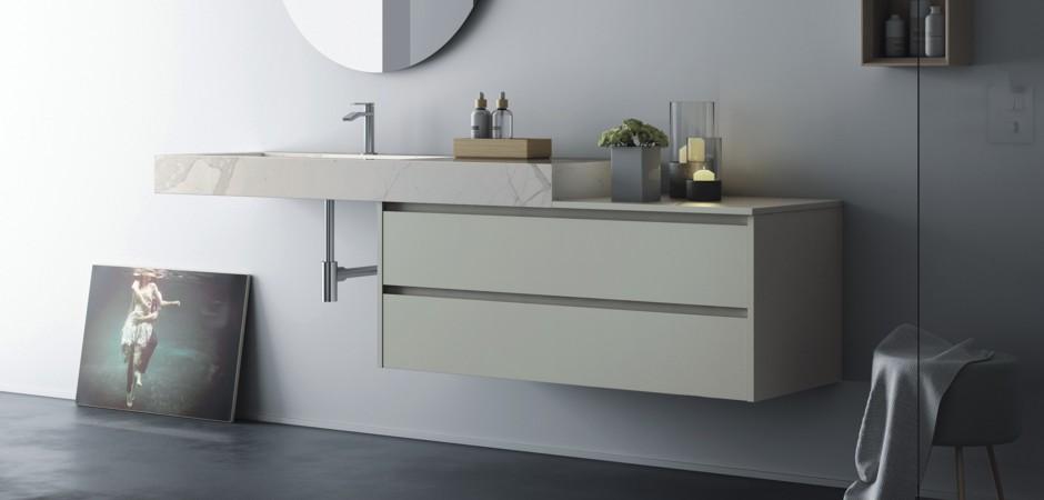 GroBartig Abb.: Designer Waschtisch Mit Unterschrank, 3 Seitige Abkantung