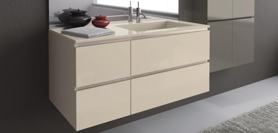 badm bel programm young ohne griffe grifflos mara badcenter. Black Bedroom Furniture Sets. Home Design Ideas