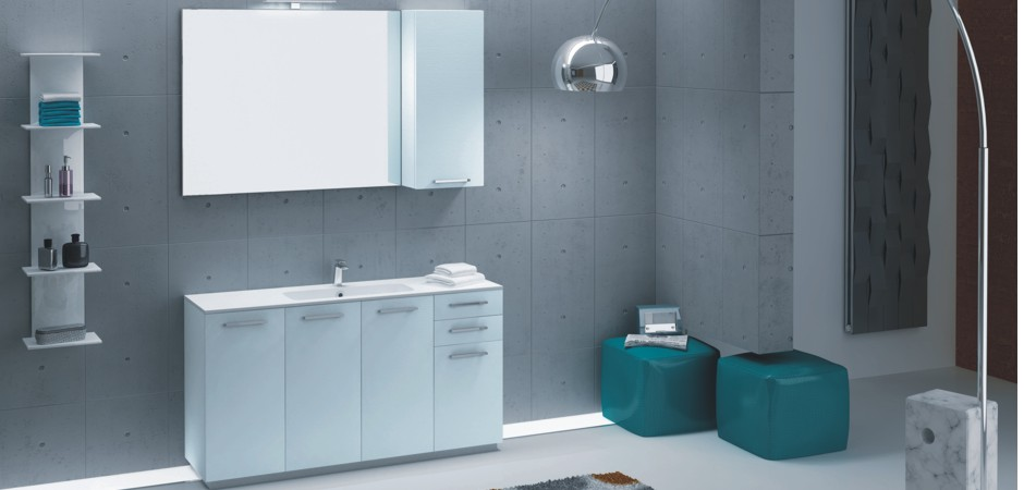 Badmöbel Programm i40 für kleine Badezimmer   MARA-Badmöbel